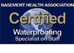Aquaguard Basement Health Association Certified