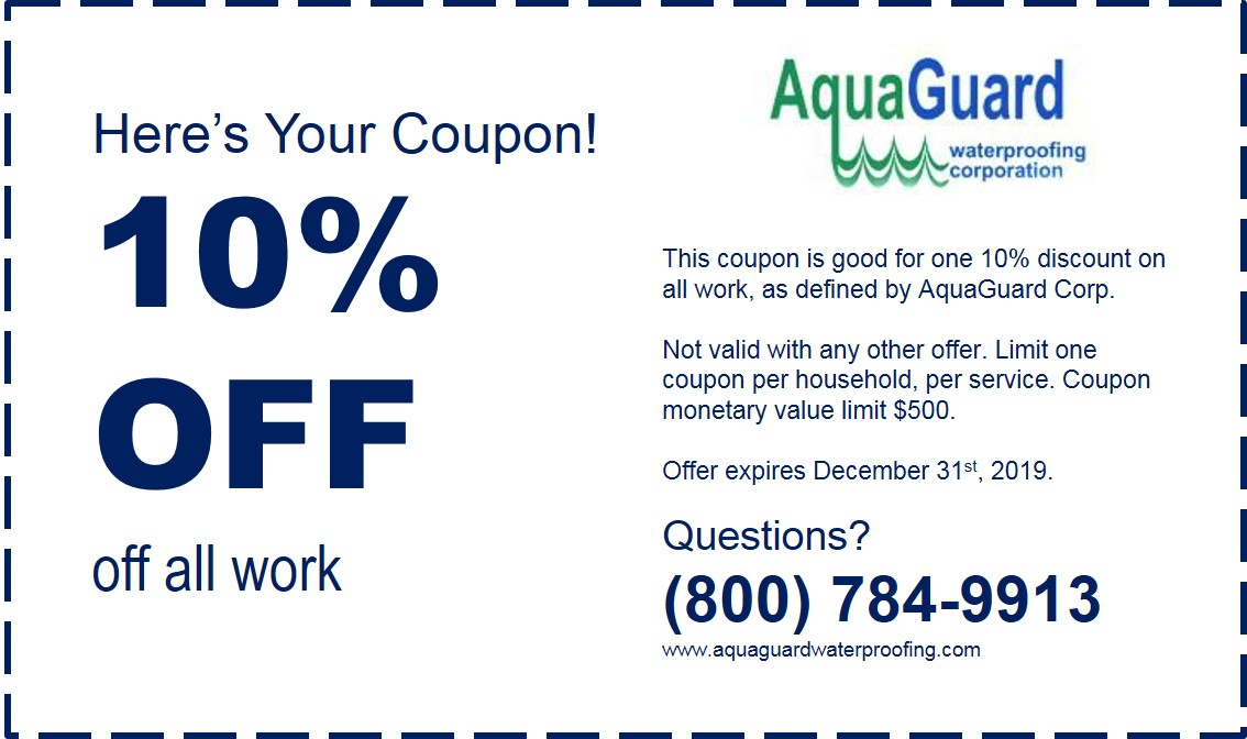 Coupon Aquaguard Waterproofing